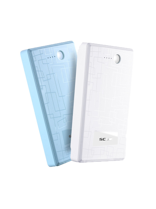 Blue power bank products in kind