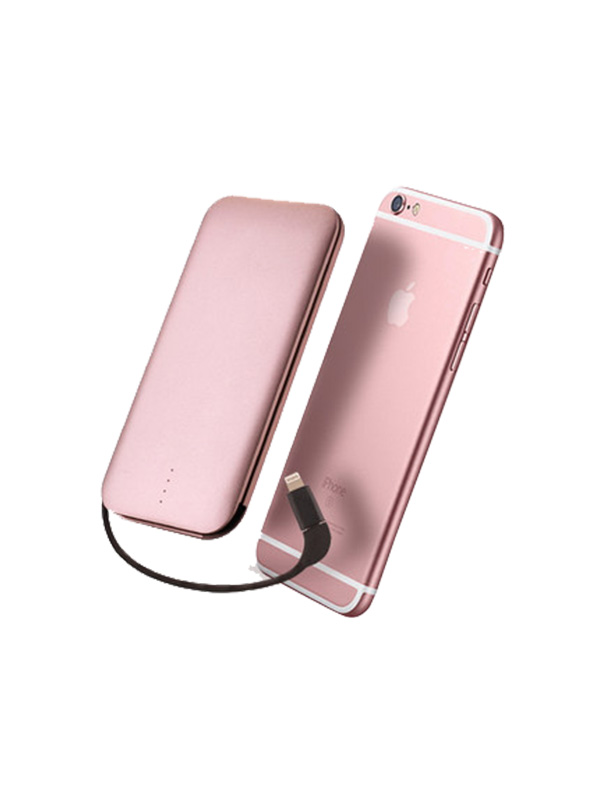 Pink Apple mobile phone power
