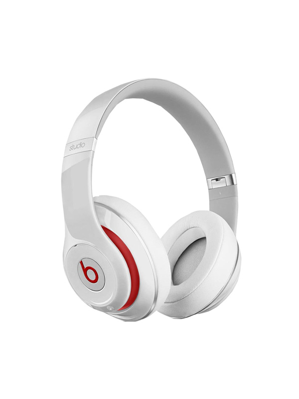 White and red headphones