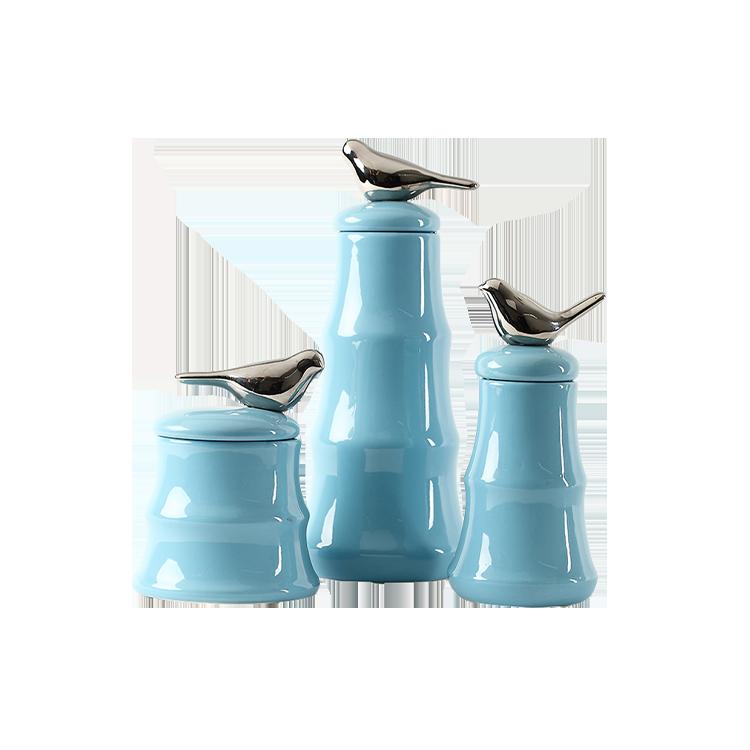 Blue bird decoration vase