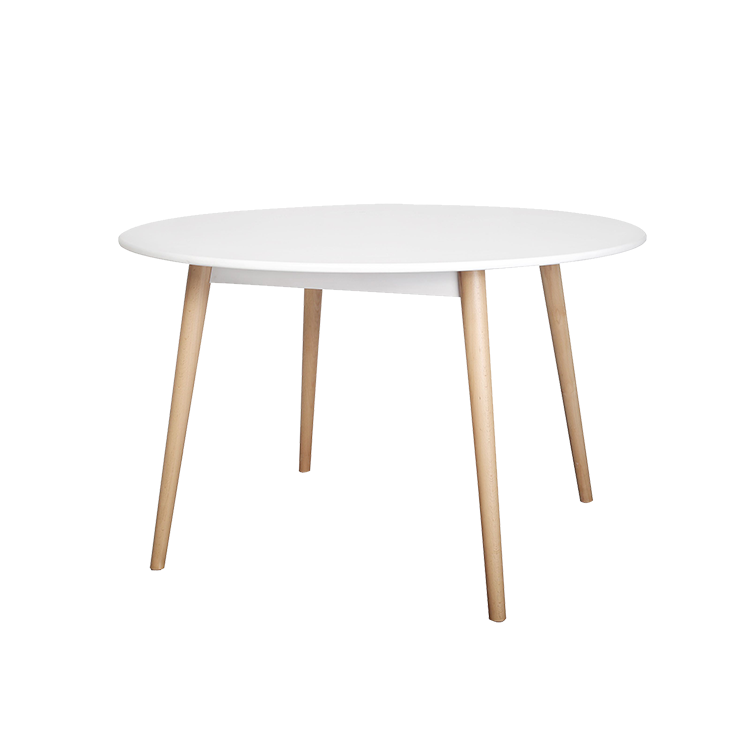 Round simple dining table