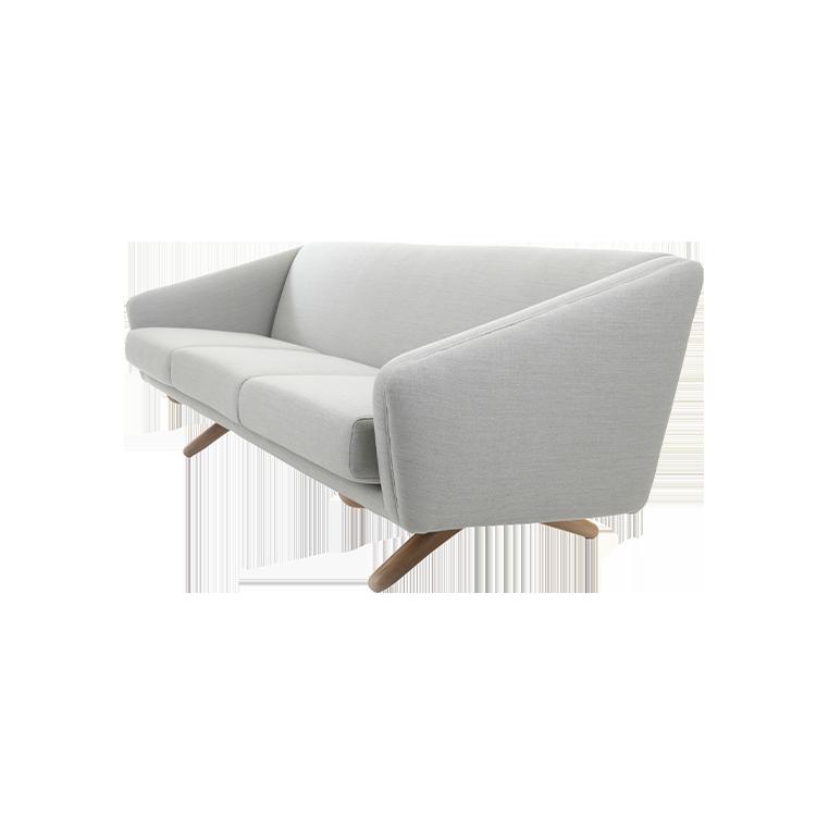 Long stylish gray sofa