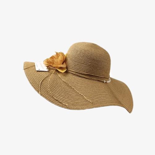 Women's big brim beach hat