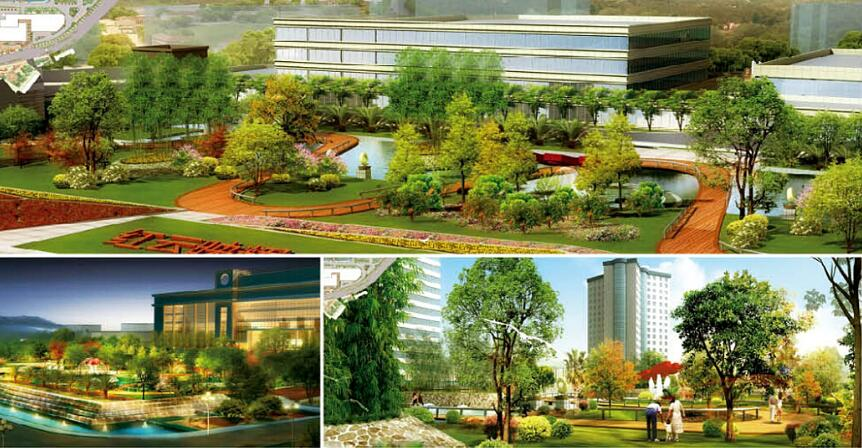 昆玉公司办公大楼景观设计