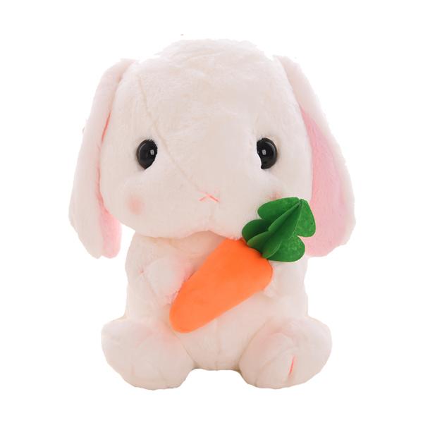 抱着胡萝卜的兔公仔