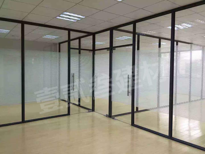 办公玻璃隔墙 办公室高隔间 玻璃墙