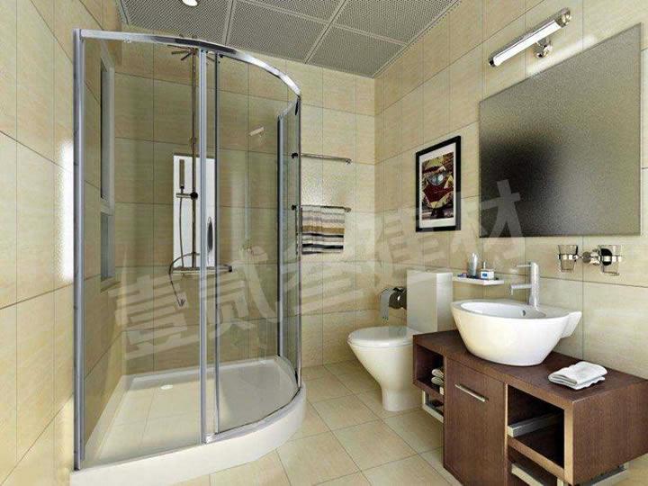 淋浴房 浴室隔断 卫生间玻璃隔断门