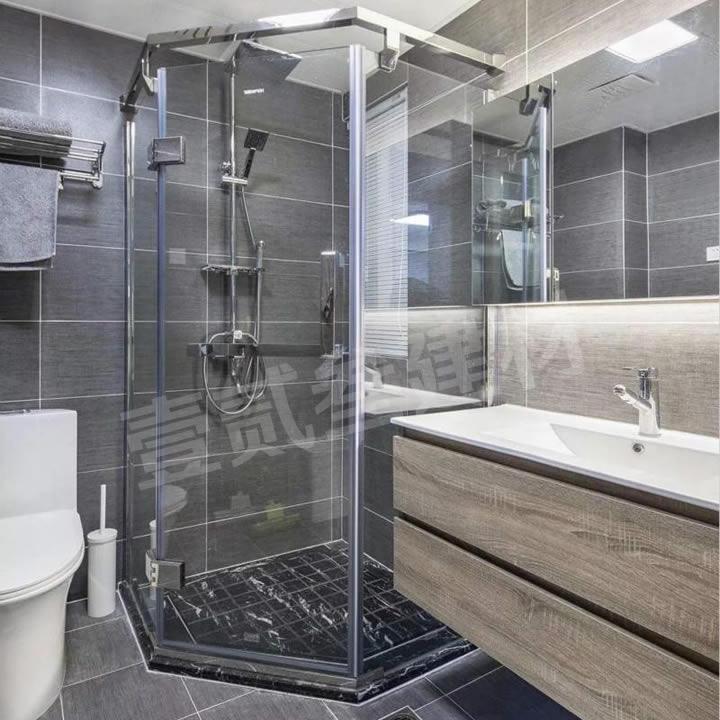 卫生间玻璃隔断 钻石型淋浴房
