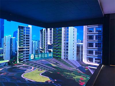 城市展厅三面屏
