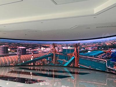 城市展厅弧形屏
