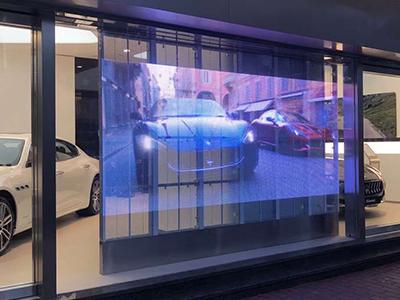玛莎拉蒂4S店透明屏