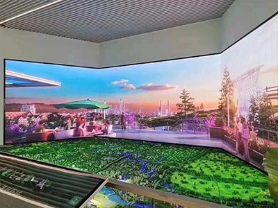 房地产销售中心沙盘LED全彩显示屏
