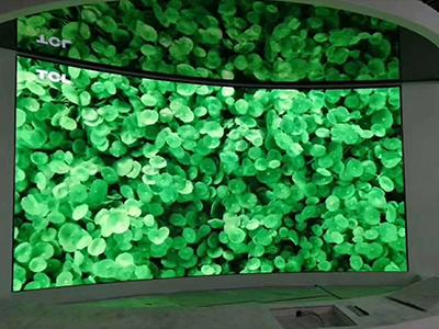 展厅室内弧形全彩LED显示屏