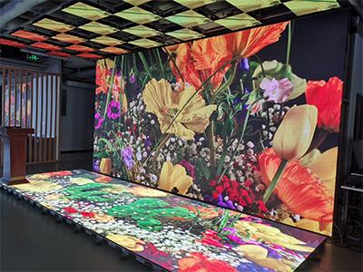 展厅地砖屏天花屏室内全彩LED显示屏