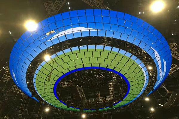 陆港小镇电商基地舞台背景LED显示屏