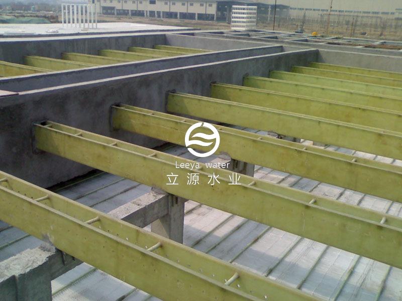 斜管斜板填料安装实景照