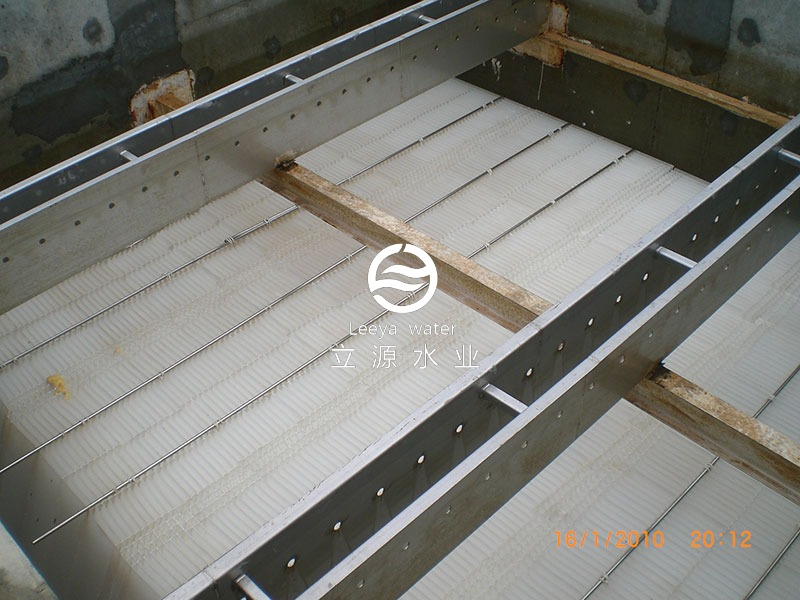 2010年斜板沉淀池斜板填料案例实景照