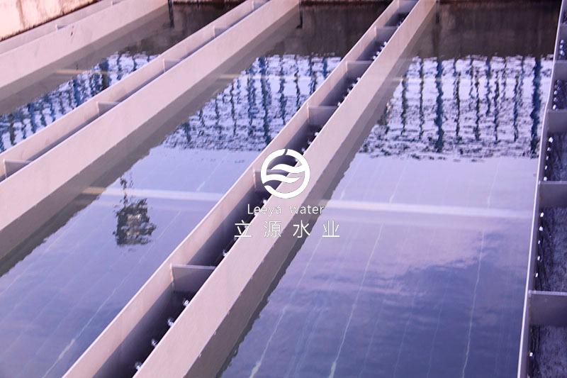 运行中的斜板填料沉淀池