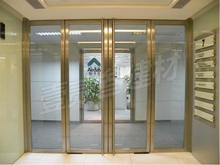 玻璃门 不锈钢玻璃门