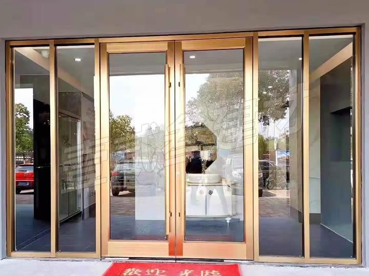 钢化玻璃门 铝合金玻璃门