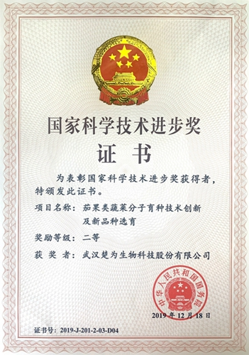 国家科技进步奖二等奖