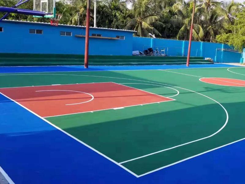 结合型塑胶地板球场