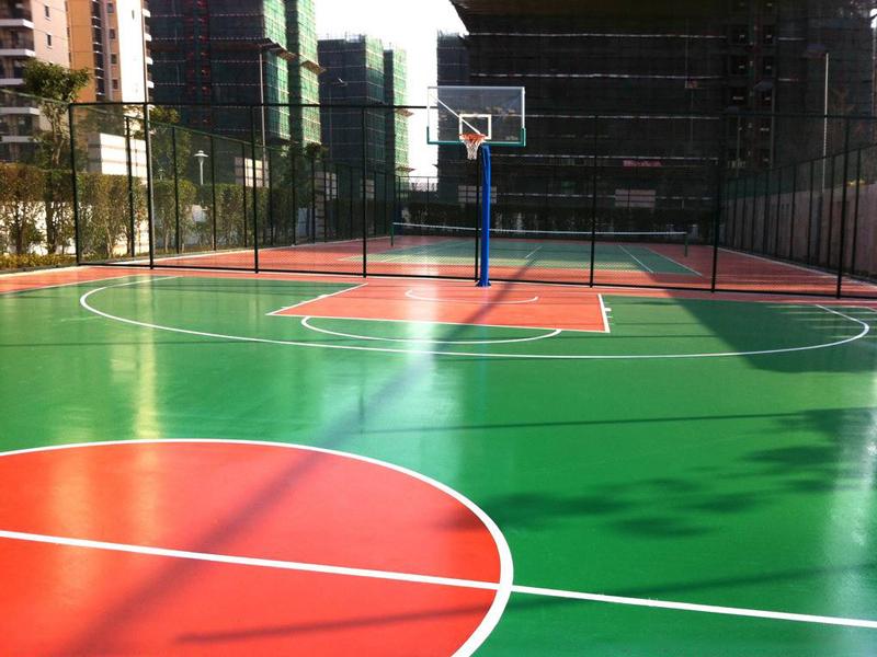 公园塑胶篮球场