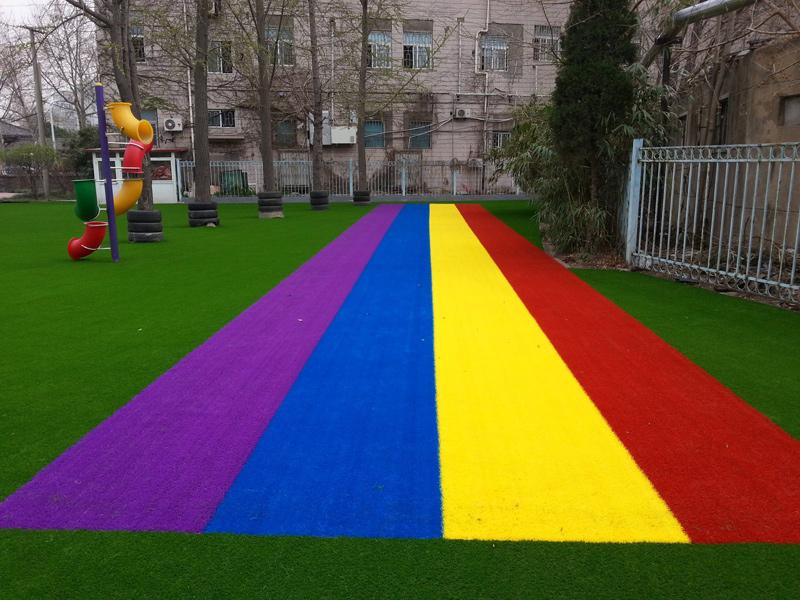 幼儿园人造多彩草坪
