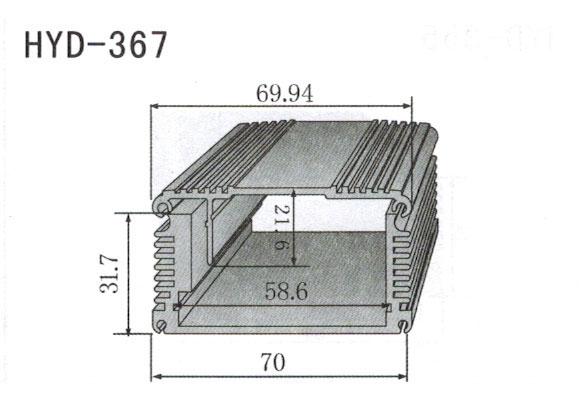 367控制器、机箱壳散热器