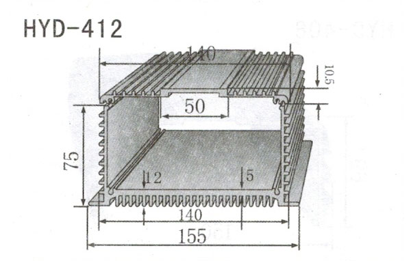 变频器配套插片散热器412