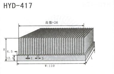 变频器配套插片散热器417