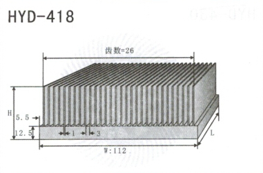 变频器配套插片散热器418