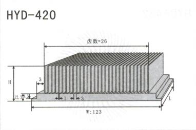 变频器配套插片散热器420