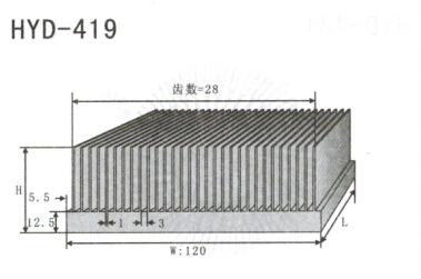 变频器配套插片散热器419