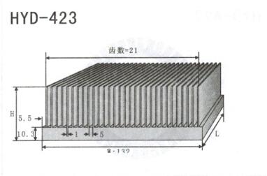 变频器配套插片散热器423