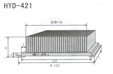 变频器配套插片散热器421