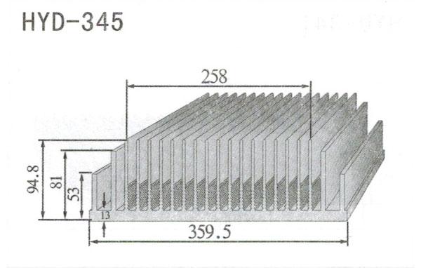 31-39cm型材散热器345