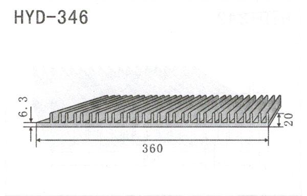 31-39cm型材散热器346