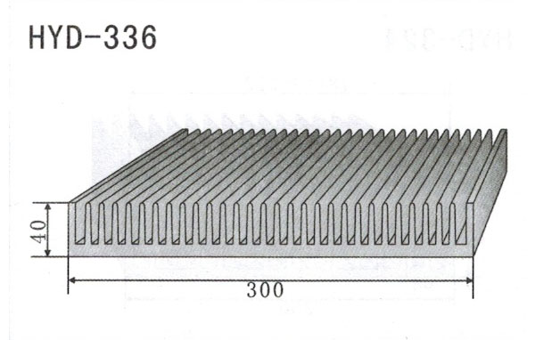 30cm型材散热器336