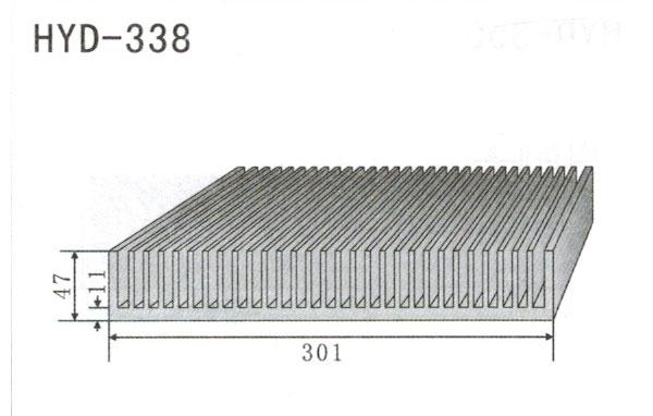 30cm型材散热器338
