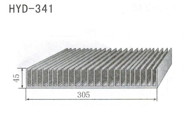 30cm型材散热器341
