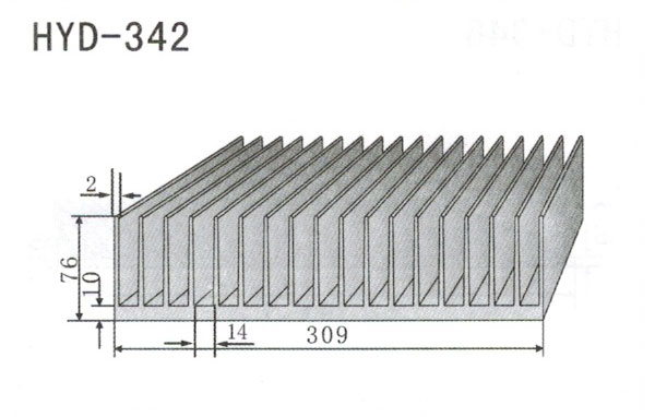 30cm型材散热器342
