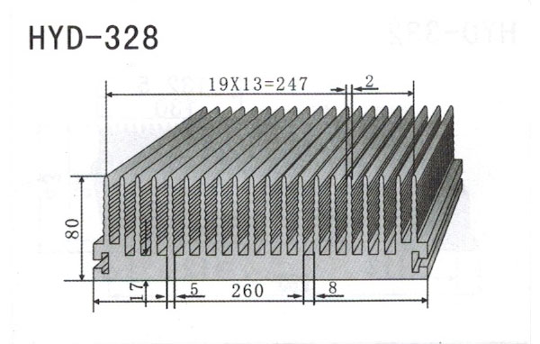 26-29cm型材散热器328