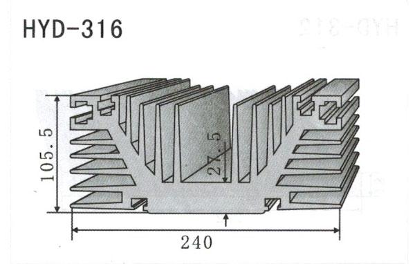 24cm型材散热器316