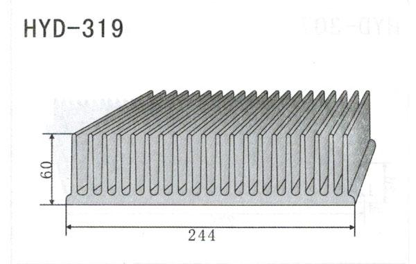 24cm型材散热器319