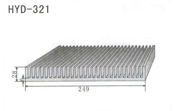 24cm型材散热器321