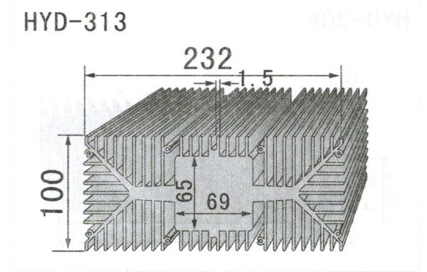 23cm型材散热器313