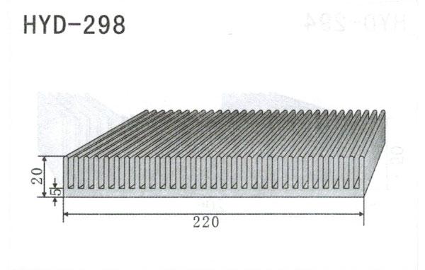 22cm型材散热器298