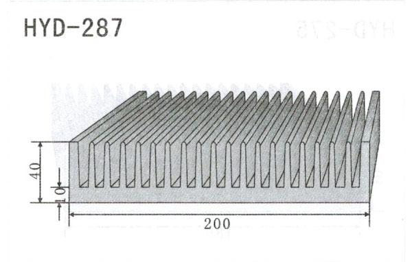 20cm型材散热器287