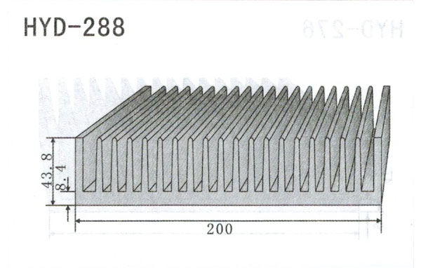 20cm型材散热器288